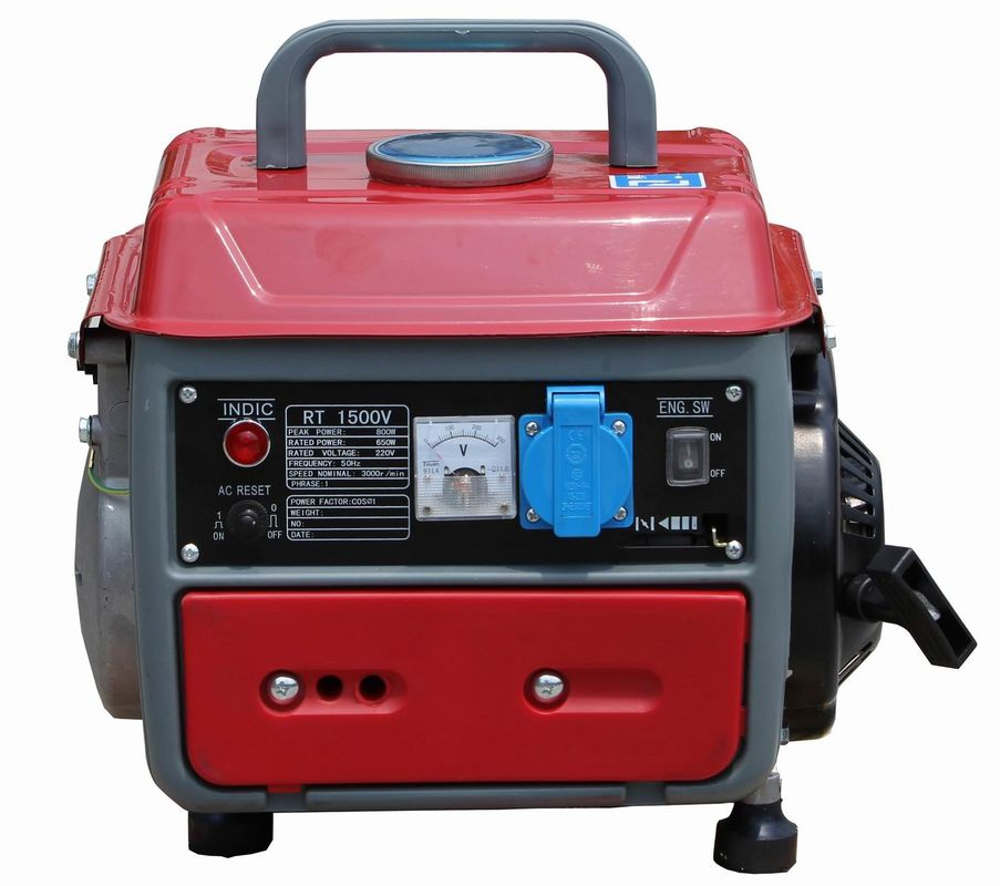 AC Single Phase Portable Gasoline Generator Set 650 W 450watt 500w For Light