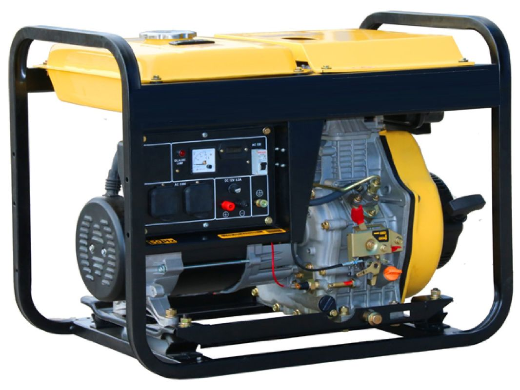 Economical Diesel Powered Portable Generator 6.5kw Single Phase AC TW 8500QX