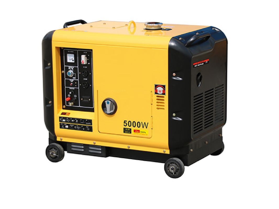 Home Diesel Powered Portable Generator Portable Size 5000 Watt Soundproof